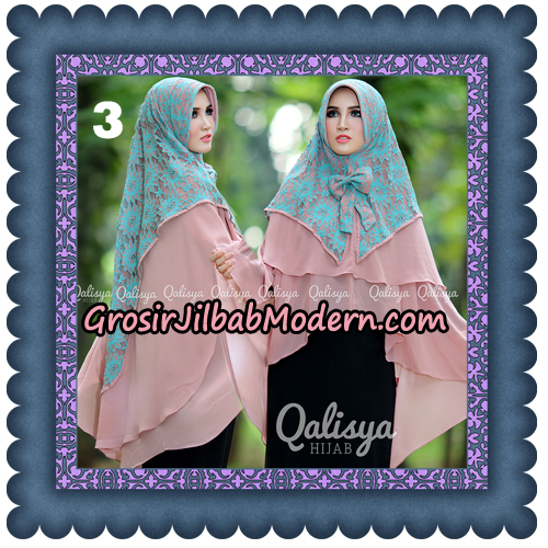 Jilbab Instant Khimar Sabqa Brukat Syar'i Trendy Original By Qalisya Brand No 3