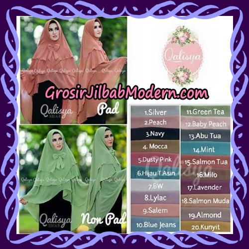 Jilbab Instant Khimar Sabqa Pet Syar'i Modis Original By Qalisya Brand Series