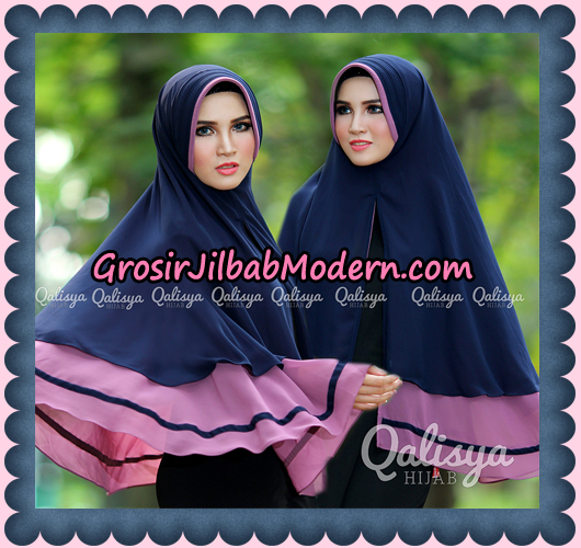Jilbab Instant Khimar Syar'i Shakila Pet Ukuran XL Original By Qalisya Brand Dongker