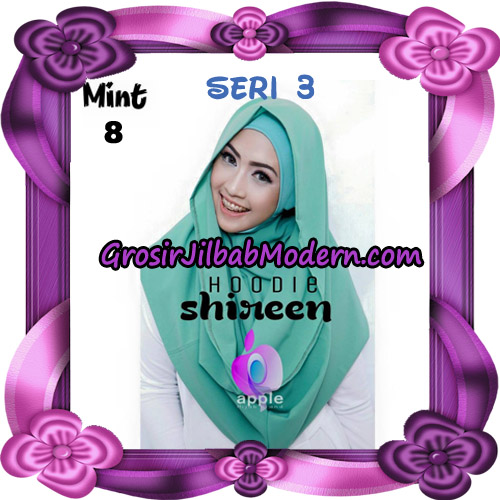 Jilbab Instant Modis Shireen Hoodie Seri 3 Original By Apple Hijab Brand No 8 Mint