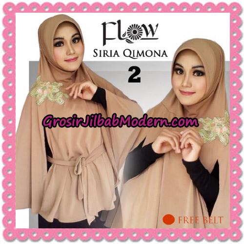 Jilbab Instant Modis Syria Qimora Trendy Original By Flow Idea Brand No 2 Coklat