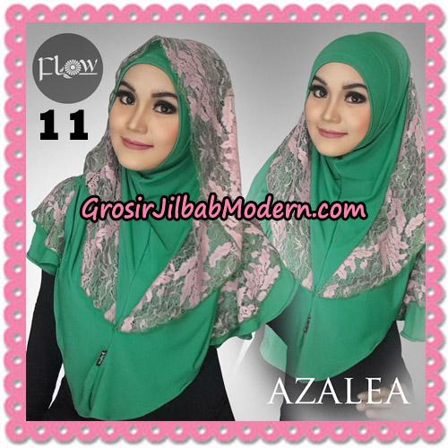 Jilbab Instant Trendy Cantik Syria Azalea Original By Flow Idea Brand No 11 Hijau
