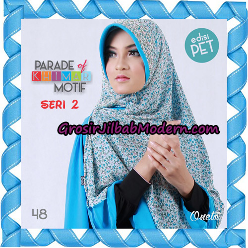 Jilbab Parade Of Khimar Motif Kombinasi Polos Pet Seri 2 Support By Oneto Hijab No 48