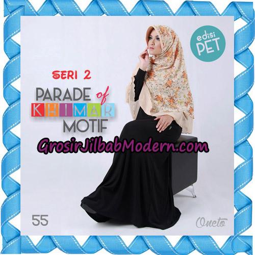 Jilbab Parade Of Khimar Motif Kombinasi Polos Pet Seri 2 Support By Oneto Hijab No 55