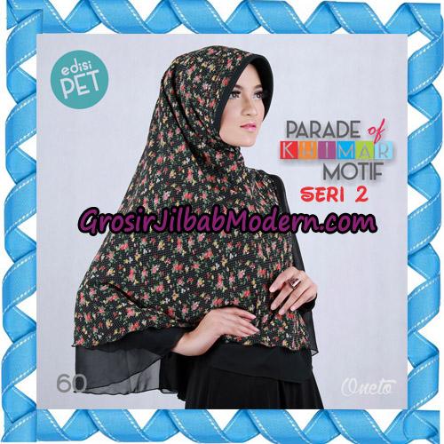 Jilbab Parade Of Khimar Motif Kombinasi Polos Pet Seri 2 Support By Oneto Hijab No 60