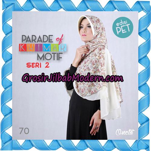 Jilbab Parade Of Khimar Motif Kombinasi Polos Pet Seri 2 Support By Oneto Hijab No 70