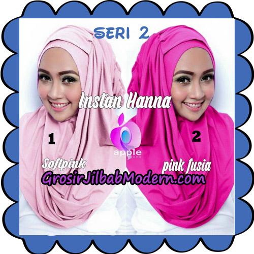 Jilbab Pashmina Instant New Hanna Seri 2 Original By Apple Hijab Brand No 1 - 2