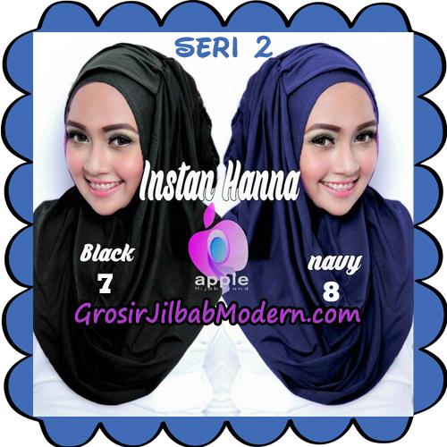 Jilbab Pashmina Instant New Hanna Seri 2 Original By Apple Hijab Brand No 7 - 8