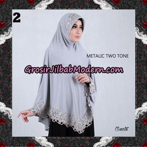 Jilbab Bergo Metalic Two Tone Support By Oneto Hijab No 2
