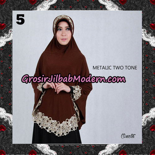 Jilbab Bergo Metalic Two Tone Support By Oneto Hijab No 5