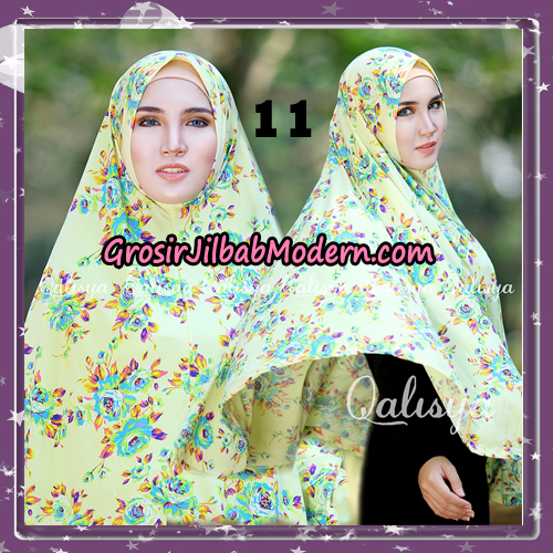 Jilbab Cantik Basic Khimar Motif Original by Qalisya Brand No 11