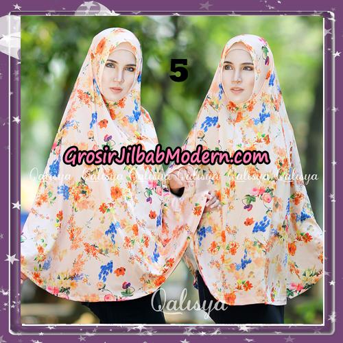 Jilbab Cantik Basic Khimar Motif Original by Qalisya Brand No 5