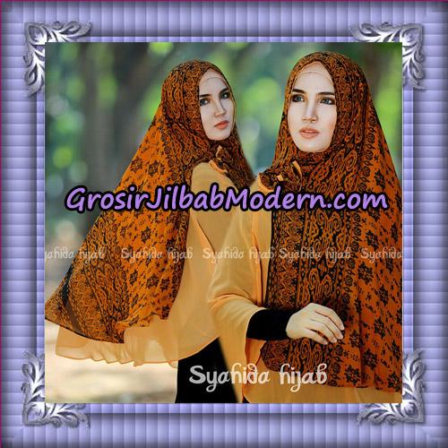 Jilbab Cerutti Non Pet Khimar Tenun Original By Syahida Hijab Brand - Orange