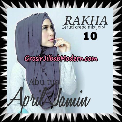 Jilbab Hoodie Instant Cantik Ala April Jasmine Seri 2 Original By Rakha Brand No 10 Abu Tua