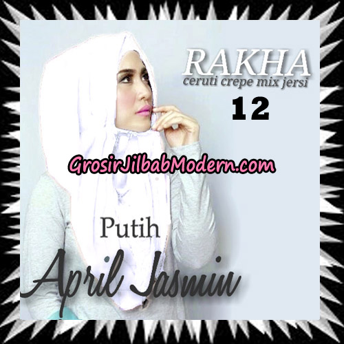 Jilbab Hoodie Instant Cantik Ala April Jasmine Seri 2 Original By Rakha Brand No 12 Putih