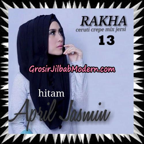 Jilbab Hoodie Instant Cantik Ala April Jasmine Seri 2 Original By Rakha Brand No 13 Hitam