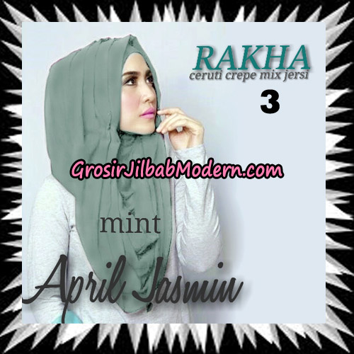 Jilbab Hoodie Instant Cantik Ala April Jasmine Seri 2 Original By Rakha Brand No 3 Mint