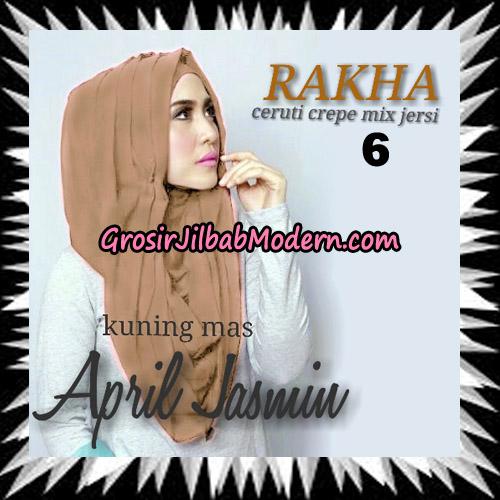 Jilbab Hoodie Instant Cantik Ala April Jasmine Seri 2 Original By Rakha Brand No 6 Kuning Kecoklatan