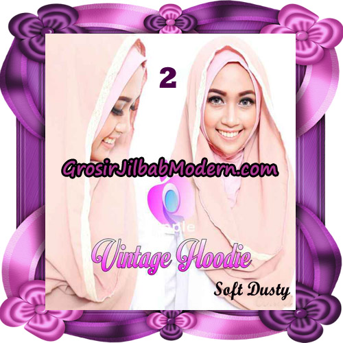 Jilbab Instant Hoodie Vintage Modis Original By Apple Hijab Brand No 2 - Soft Dusty