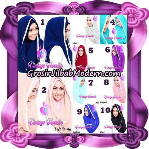 Jilbab Instant Hoodie Vintage Modis Original By Apple Hijab Brand