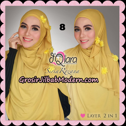 Jilbab Instant Syria Rozana Original By d'Qiara Hijab Brand No 8 Kuning Kunyit