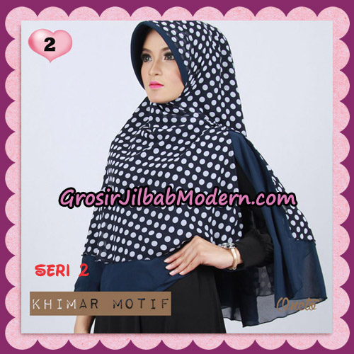 Jilbab Khimar Motif Pet Seri 2 Cantik Support By Oneto Hijab No 2