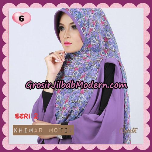 Jilbab Khimar Motif Pet Seri 2 Cantik Support By Oneto Hijab No 6