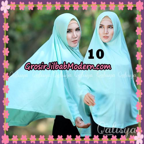 Jilbab Polos Basic Khimar Jersey Jeruk Original by Qalisya Brand No 10 Mint