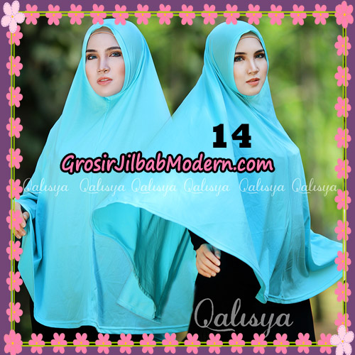 Jilbab Polos Basic Khimar Jersey Jeruk Original by Qalisya Brand No 14 Toska Muda
