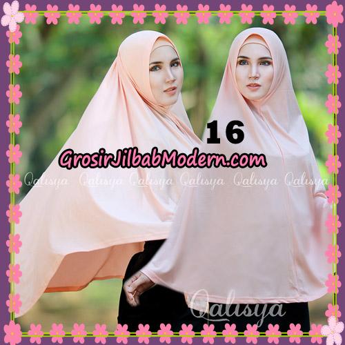 Jilbab Polos Basic Khimar Jersey Jeruk Original by Qalisya Brand No 16 Buble Gum