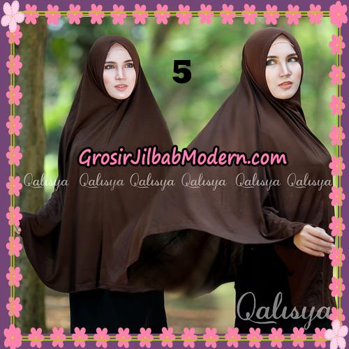 Jilbab Polos Basic Khimar Jersey Jeruk Original by Qalisya Brand No 5 Coktu