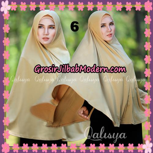 Jilbab Polos Basic Khimar Jersey Jeruk Original by Qalisya Brand No 6 Coksu