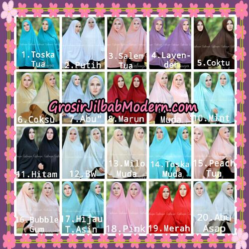 Jilbab Polos Basic Khimar Jersey Jeruk Original by Qalisya Brand