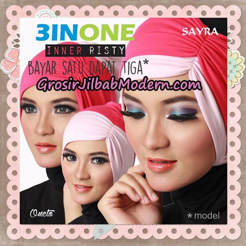 Inner Jilbab Kerut Risty 3 In One Original By Sayra Hijab - Detail