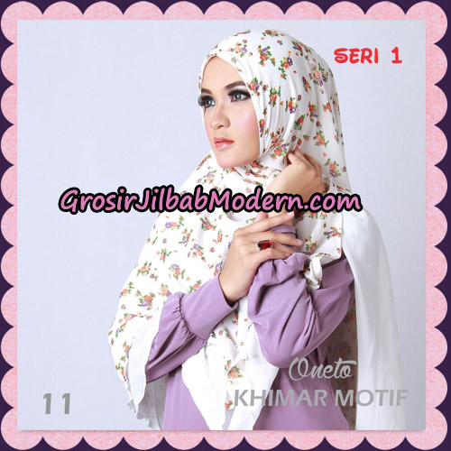 Jilbab Khimar Motif Non Pet Seri 1 Support By Oneto Hijab No 11