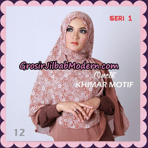Jilbab Khimar Motif Non Pet Seri 1 Support By Oneto Hijab No 12