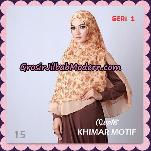 Jilbab Khimar Motif Non Pet Seri 1 Support By Oneto Hijab No 15