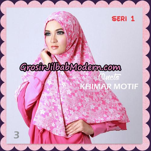 Jilbab Khimar Motif Non Pet Seri 1 Support By Oneto Hijab No 3