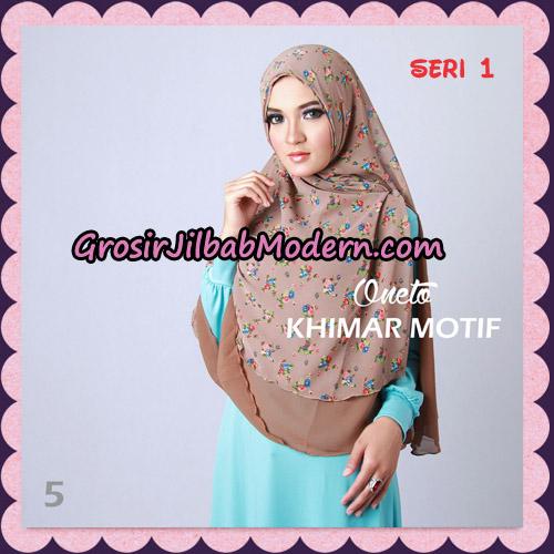 Jilbab Khimar Motif Non Pet Seri 1 Support By Oneto Hijab No 5