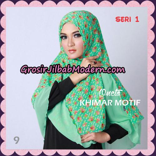 Jilbab Khimar Motif Non Pet Seri 1 Support By Oneto Hijab No 9
