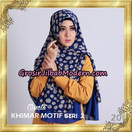 Jilbab Khimar Motif Non Pet Seri 2 Support By Oneto Hijab No 20