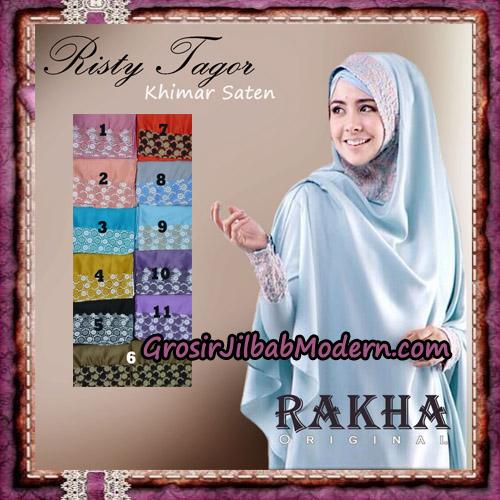 Jilbab Khimar Saten Ala Risty Tagor Elegan Original By Rakha Brand Series
