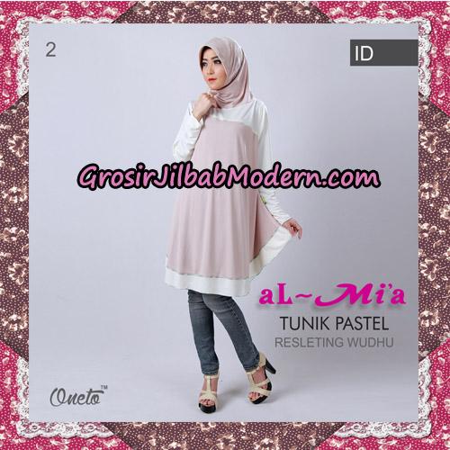 Jilbab Lengan Tunik Pastel Original By Almia ( Al-Mi'a Brand ) No 2