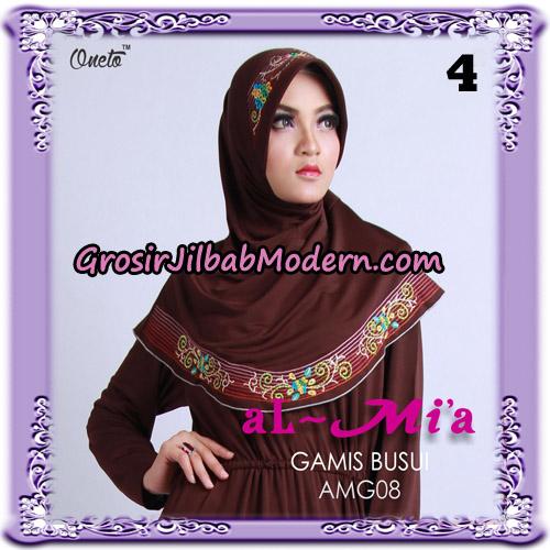 Setelan Gamis Busui Polos AMG08 Original By Almia ( Al-Mi'a Brand ) No 4