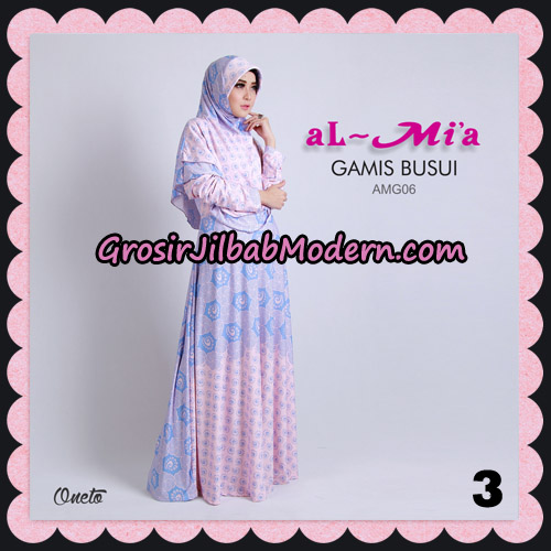 Stelan Gamis Busui AMG06 Cantik Original By Almia ( Al-Mi'a Brand ) No 3