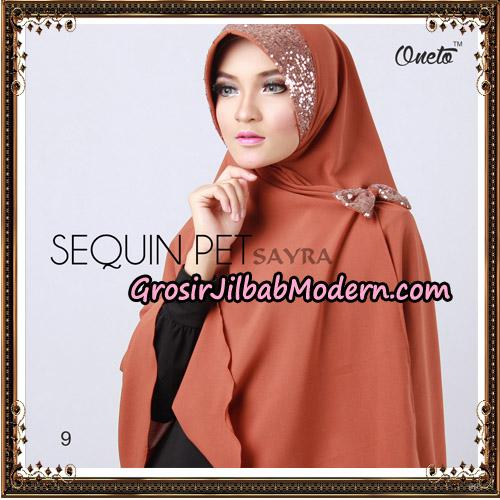 Jilbab Instant Sequin Pet Original By Sayra Hijab Brand No 9