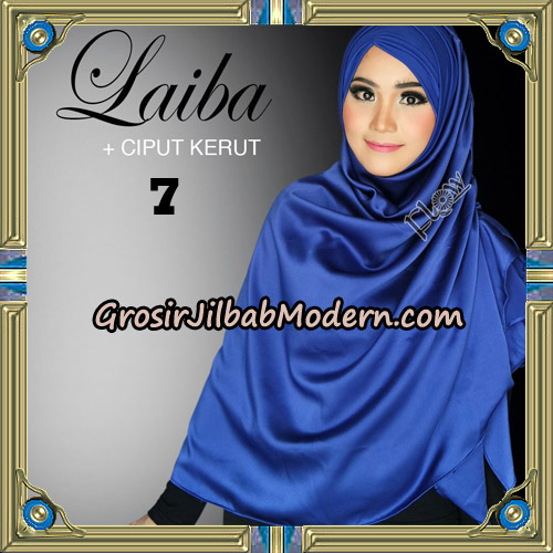 Jilbab Instant Silk Syria Laiba Original By Flow Idea No 7