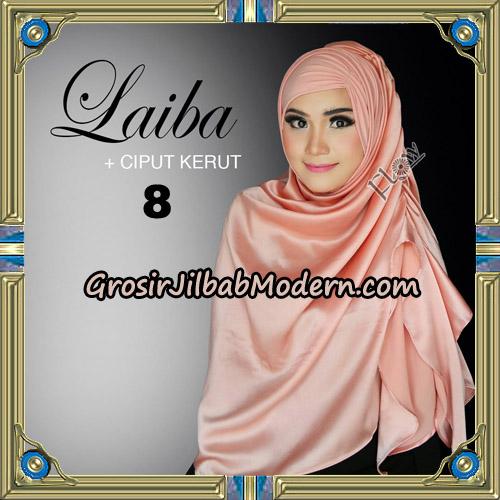 Jilbab Instant Silk Syria Laiba Original By Flow Idea No 8