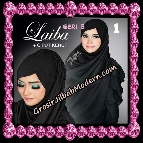 Jilbab Instant Silk Syria Laiba Seri 3 Original By Flow Idea No 1