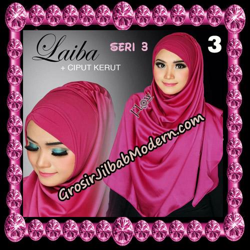 Jilbab Instant Silk Syria Laiba Seri 3 Original By Flow Idea No 3